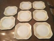 Antique Meito China Hand Painted Made In Japan 8 Luncheon Plates Pattern 352