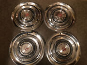 Full Size Set Of Four Rambler Hubcaps 1960and039s 14 Rambler Hubcaps  Dd56