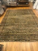 12and0391 X 8and0393ft Kermuni Antique Ca.1870 Handmade Woven Genuine Rug
