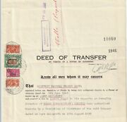 1946 South Africa Deed Of Transfer.fine Used Kgv1 Native Tax And Bantam Revenues.