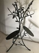 Michael Aram Rare Signed Metal Branches W/leaves Art Sculpture 2ft Tall Gorgeous