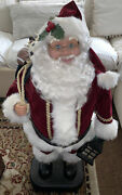 Vintage 1998 Christmas Animated Santa Claus By Holiday Creations - Tested