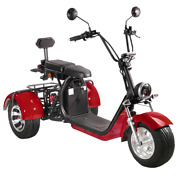 2000w Electric Motorized Tricycle Adult 3 Wheels Scooter With Rear Basket T7.2