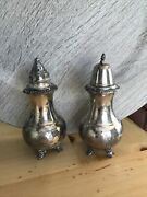Vintage Ascot Sheffield Design Salt And Pepper Shakers Reproduction By Community