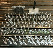 Cast Iron Toy Soldiers And Press Vintage War World Antique Unbranded Lot Of 98