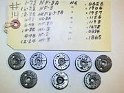 Lot Of 8-pcs- Lincoln Gage - Thread Ring Gages - Assorted Sizes