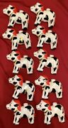 Vintage Christmas Cow Bell Tree Lights Mold Lot Of 10 Retro 50's Super Rare