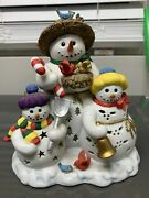 Partylite Retired Snowbell Holiday Christmas Snowman Tealight Candle Holder 7702