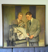 1960's Xerox Wilson And Carlson Large Oil Painting By Stanley Gordan Rochester Ny