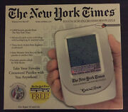 New York Times Touch Screen Crossword Puzzle - New - Never Used