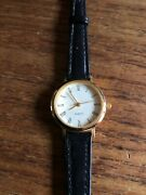 Ladies Classic Gold Coloured Watch With Black Straps W924/2