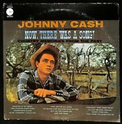 Johnny Cash Now There Was A Song Album Lp Autographed Signed Jsa Loa Bb47380