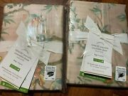 Set Of 2 New Pottery Barn Tencel Mariella King Shams Floral Sold Out