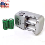 2pc Cr-2 Cr2 Dlcr2b Rlcr2 3v 800mah Lithium-ion Rechargeable Battery And Charger