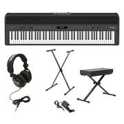 Roland Fp-90 88 Keys Supernatural Piano With Headphones Stand Bench Pedal