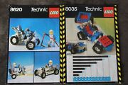 1986 Lego Technic Instructions Directions Sets 8035 8620 Vintage Printed Germany