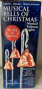 New Mr. Christmas 3 Pk Red Bells Musical Pathway Markers, Lights 30 Songs