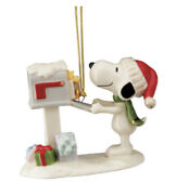 Lenox Peanuts Snoopy's Letter To Santa Ornament With Woodstock Nib Sold Out