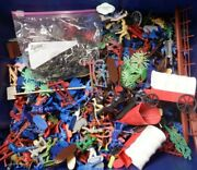 Mixed Lot Of 100's Plastic Toy Cowboys Native Americans Soldiers Vehicles