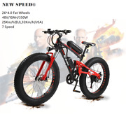 Electric Mountain Hybrid Bike/bicycle New Speed® Fat Tire 26 Mtb/7 Speed