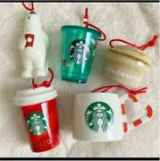 2020 Starbucks Chiristmas Holiday Ornament Set Of 5 From Japan Gift