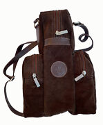 Argentine Handmade Suede Leather Shoulder Bag For Stanley Thermos With 2 Pockets