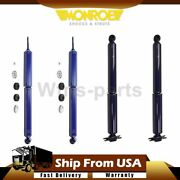 Monroe Shocks And Struts Shock Absorber Set Front Rear For 1991-2001 Jeep Cherokee
