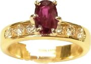 Stunning 1.38ct Natural Ruby Diamond Heavy 14k Gold Ring W Gia And Agl Reports