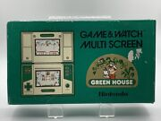 1982 Nintendo Game And Watch Multi Screen Green House Complete In Box Cib Gh-54