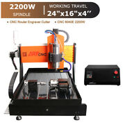 Network 4-axis Cnc Router 6040e 2.2kw Spindle Engraving Milling Carving Machine