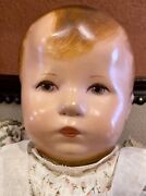 Antique 18andrdquo All Original Cloth Early Kathe Kruse Xii Hampelchen Doll