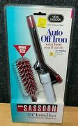 Vintage Vidal Sassoon Curling Iron And Ball Tipped Vented Hair Brush - New 1994