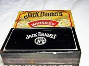 Vintage Jack Daniels Tin Match Box Old No. 7 Excellent Condition And Matchbox