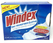 Windex Clean And Shine Dry Microfiber Cloths Box Of 12 Window Cleaning New Nos