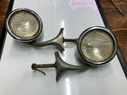 Pair Vintage Early Cowl Lamp Large Lights 1920and039s 1930and039s Chrysler Auto Dodge Car