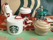 Starbucks Japan 2020 Holiday Special Christmas Ornament 5 Full Complete Set
