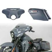 Grey Outer Fairings 4 Stretched Saddlebag For Harley Touring Cvo 2014-2020 2019