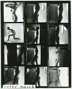 Peter Bosch - Woman Studio Naked - Plank Contact - Silver Print 1960