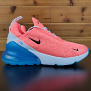 Nike Air Max 270 Womenand039s Running Shoes Lava Glow/blue Ci5856 600