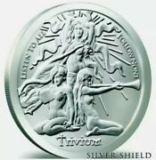 5 Oz .999 Pure Silver Shield Proof Trivium Girls Group Members Round Coin Coa