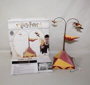 """New 2018 Dept 56 Harry Potter Village Animated Accessories """"chasing The Snitch"""