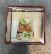 Royal Worcester Spode Palissy Collectible Bone China Strawberries Thimble-nice