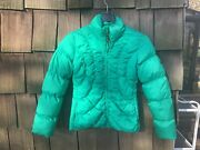Womenandrsquos Marker Green Ski Jacket Goose Down With Climate Guard Size 4