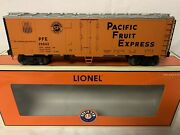 ✅lionel Pacific Fruit Express Steel Side Reefer Car 6-17352 Union Southern Pfe