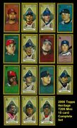 2008 Topps Heritage T205 Mini Baseball Complete Set Of 15 Cards - Target Inserts