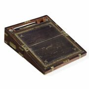 Regency Rosewood And Brass Antique Writing Slope Box England Circa 1815