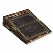 Regency Rosewood And Brass Antique Writing Slope Box, England, Circa 1815