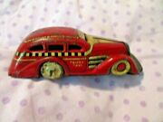 Vintage Marx 1930s Tin Wind Up Mechanical Tricky Taxi Cab Car Works But No Key