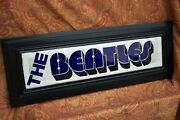 One-of-a-kind And039the Beatlesand039 Original Tile Mosaic On Wood - Signed By Artist -