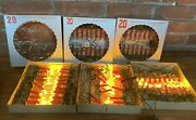 Vintage Italian Christmas Tree Candle Lights Made In Italy 5 Boxes Never Used.